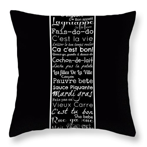 Cajun french sayings throw pillow for sale by southern tradition cajun throw pillow featuring the digital art cajun french sayings by southern tradition m4hsunfo