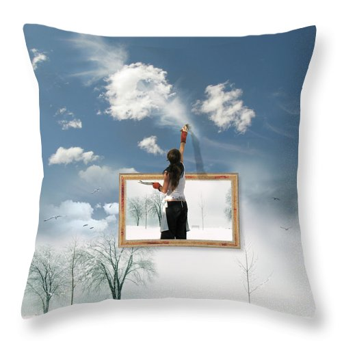 Califonia Dreaming Throw Pillow featuring the photograph Califonia Dreaming by John Poon