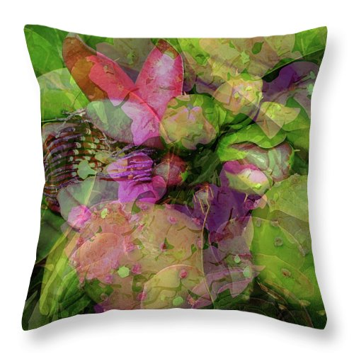 Passion Throw Pillow featuring the digital art California Collage by Janet Duffey