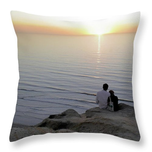 Pacific Throw Pillow featuring the photograph California Dreaming by Christine Till