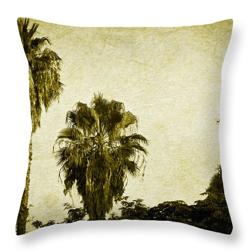 California Throw Pillow featuring the photograph California Palms by Teresa Mucha