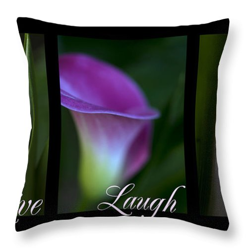 Calla Lily Throw Pillow featuring the photograph Calla Lillies by Jessica Wakefield