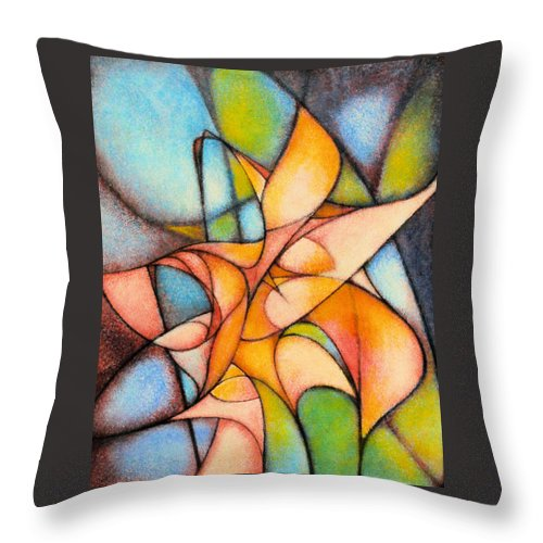 Contemporary Throw Pillow featuring the painting Calla Lillies by Kevin Lawrence Leveque