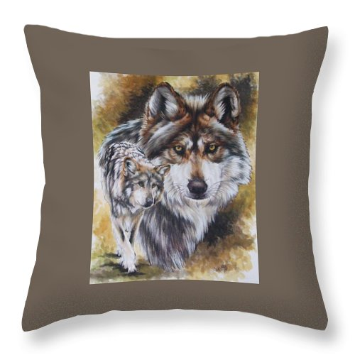 Wildlife Throw Pillow featuring the mixed media Callidity by Barbara Keith