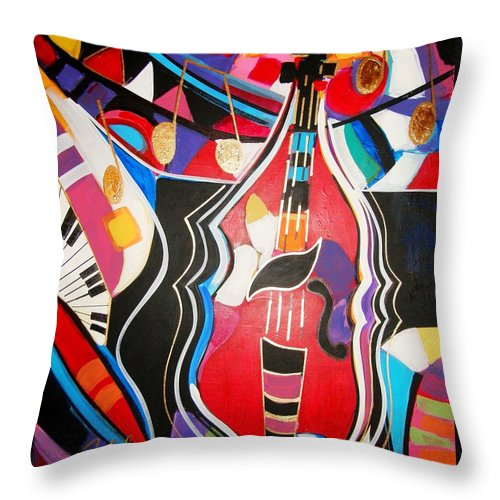 Music Throw Pillow featuring the painting Calling Me Home by Gina Hulse