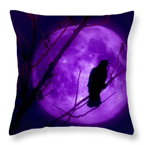 Moon Throw Pillow featuring the photograph Calling Out To The Night by Kenneth Krolikowski