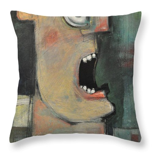 Man Throw Pillow featuring the painting Calling The Play by Tim Nyberg