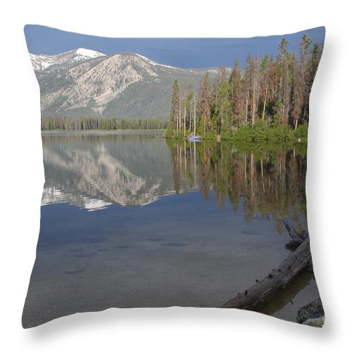 Stanley Lake Throw Pillow featuring the photograph Calm Before The Storm by Idaho Scenic Images Linda Lantzy