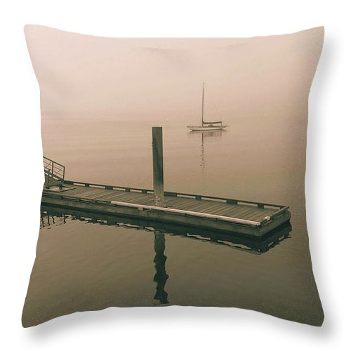 Seascape Throw Pillow featuring the photograph Calm by Mark Alan Perry