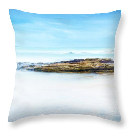 Calm Throw Pillow featuring the photograph Calm Ocean Landscape by Tim Hester