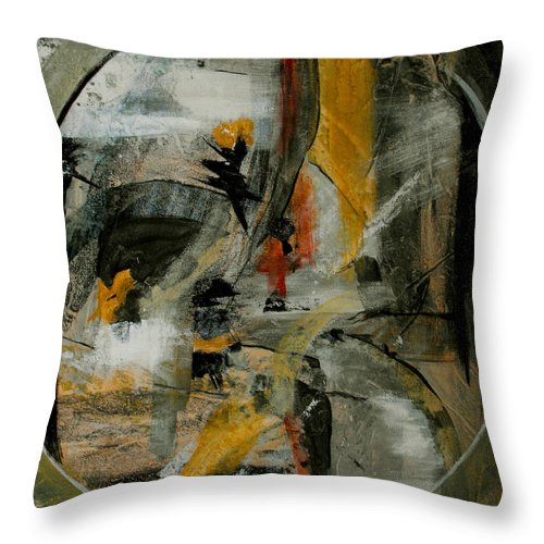 Abstract Throw Pillow featuring the painting Calm Out Of Chaos by Ruth Palmer