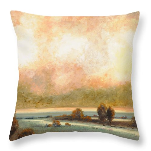 Pond Throw Pillow featuring the painting Calor Bianco by Guido Borelli