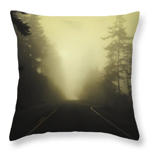 Fog Throw Pillow featuring the photograph Camano Island Fog by Tim Nyberg
