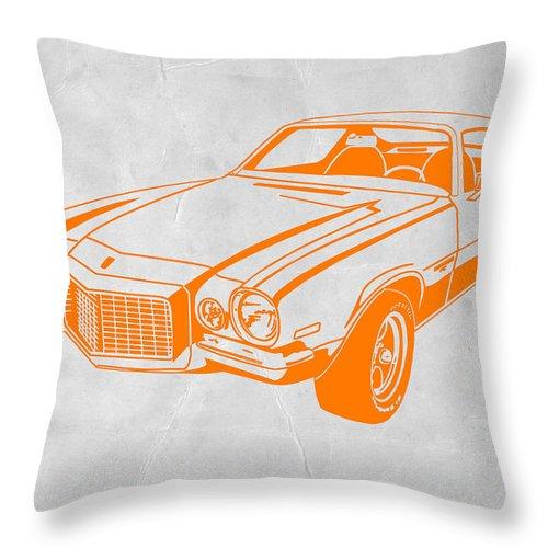 Throw Pillow featuring the photograph Camaro by Naxart Studio