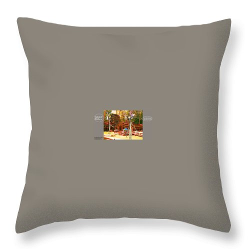 Alien Nutz Space Art Comics Throw Pillow featuring the mixed media Cambodia 4 by Robert aka Bobby Ray Howle