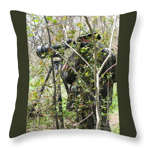 Photographer Throw Pillow featuring the photograph Camouflage by Ann Horn