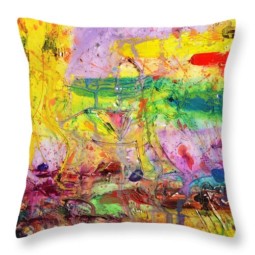 Camouflage Throw Pillow featuring the painting Camouflage by Phil Strang