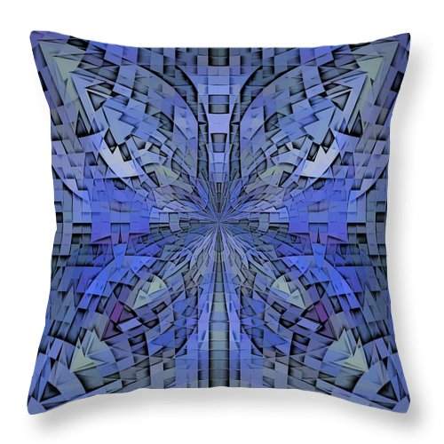 Abstract Throw Pillow featuring the digital art Can You Hear Me Now by Tim Allen