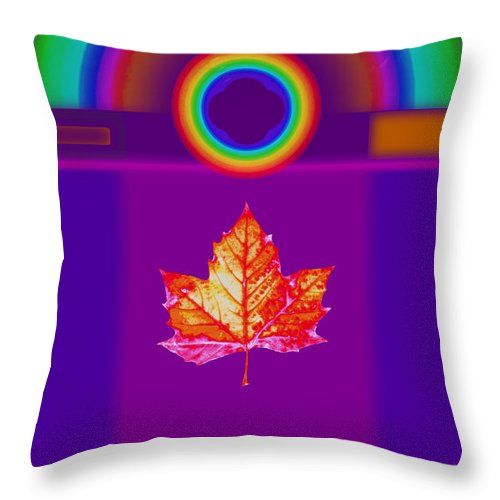 Classical Throw Pillow featuring the digital art Canadian Palladian by Charles Stuart