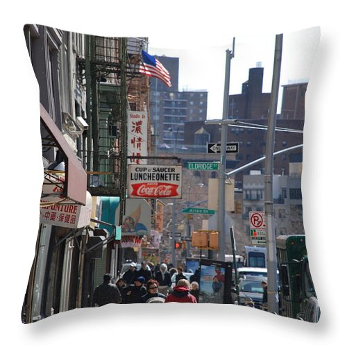 Architecture Throw Pillow featuring the photograph Canal And Eldridge by Rob Hans
