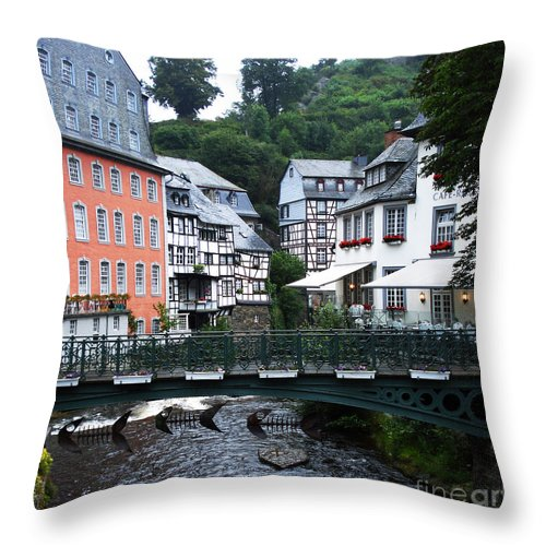 Canal Throw Pillow featuring the photograph Canal by Jeff Barrett