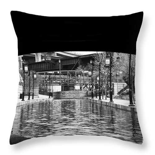 Canal Walk Throw Pillow featuring the photograph Canal Walk Tunnel by Tim Wilson