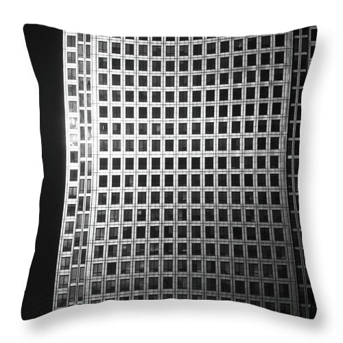 Canary Warf Throw Pillow featuring the photograph Canary Warf London 2 by David Rives