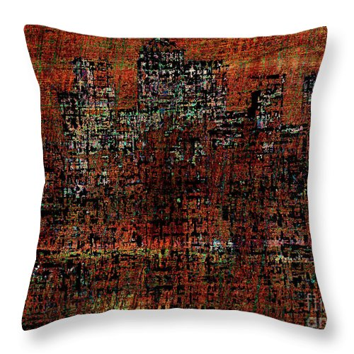 Canary Wharf Throw Pillow featuring the digital art Canary Wharf 4 by Andy Mercer