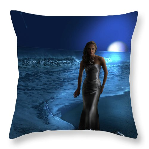 Cancer Throw Pillow featuring the digital art Cancer by Virginia Palomeque