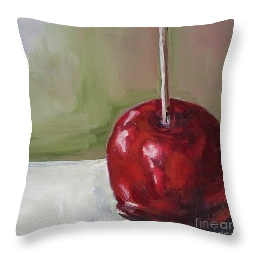 Candy Throw Pillow featuring the painting Candy Apple by Kristine Kainer