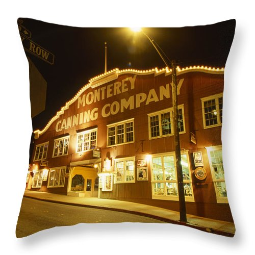 Cannery Row Throw Pillow featuring the photograph Cannery Row by Soli Deo Gloria Wilderness And Wildlife Photography