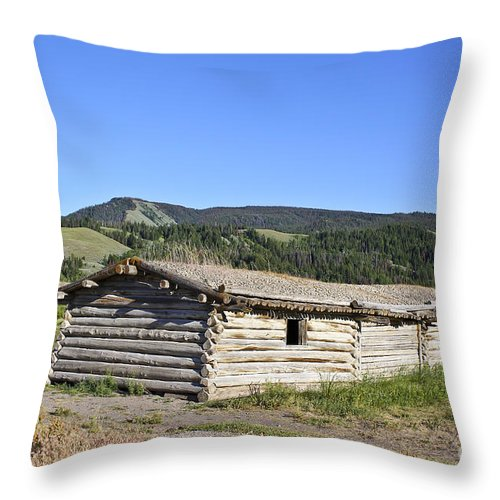 Cabin Throw Pillow featuring the photograph Canningham Cabin Grand Tetons National Park by Teresa Zieba