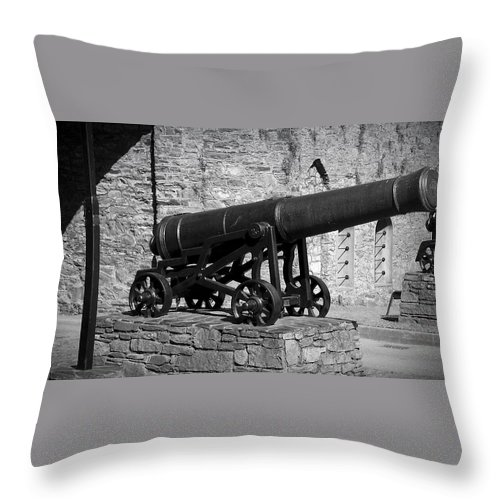 Irish Throw Pillow featuring the photograph Cannon At Macroom Castle Ireland by Teresa Mucha