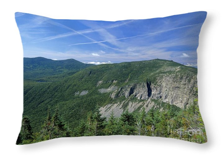 Cirrus Clouds Throw Pillow featuring the photograph Cannon Mountain - White Mountains New Hampshire Usa by Erin Paul Donovan