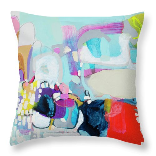 Abstract Throw Pillow featuring the painting Can't Wait by Claire Desjardins