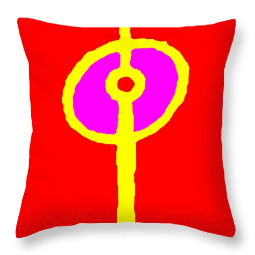 Square Throw Pillow featuring the digital art Cantata by Eikoni Images