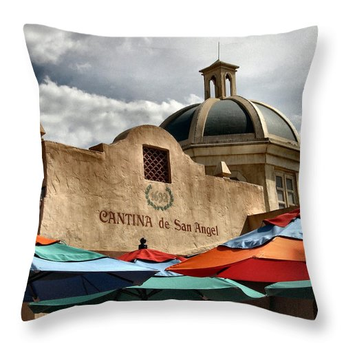 Cantina Throw Pillow featuring the photograph Cantina De San Angel by Nora Martinez