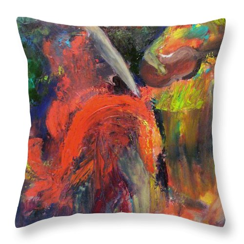 Dancers Throw Pillow featuring the painting Cantina Serenade by Keith Thue