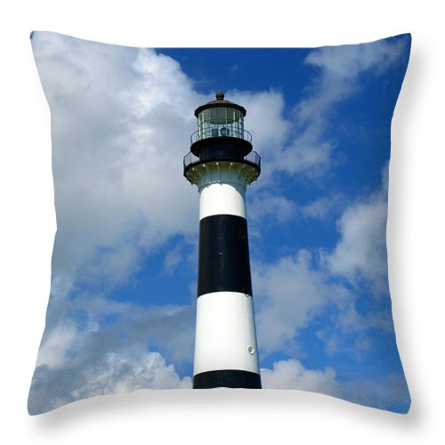 Throw Pillow featuring the photograph Canveral Light by Allan Hughes