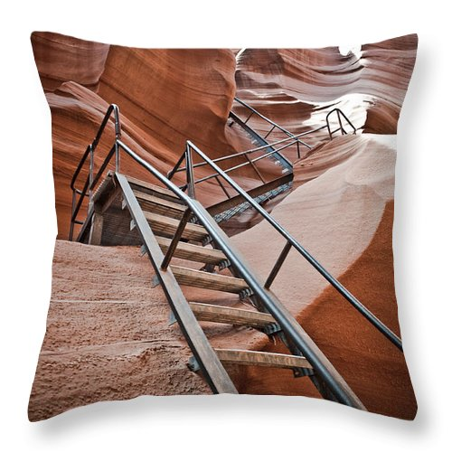 Slot Canyon Throw Pillow featuring the photograph Canyon Exit by Scott Sawyer