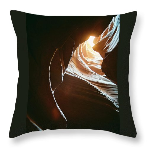 Landscape Throw Pillow featuring the photograph Canyon Flares by Cathy Franklin