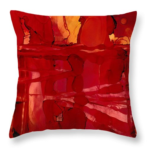 Abstract Throw Pillow featuring the painting Canyon Memories by Louise Adams
