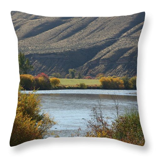 River Throw Pillow featuring the photograph Canyon River by JoJo Photography