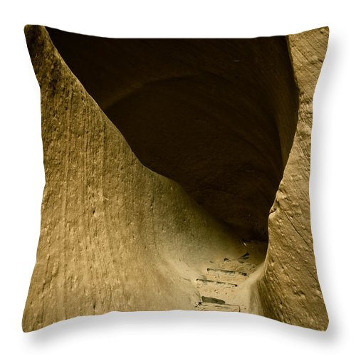 Photograph Throw Pillow featuring the photograph Canyon Steps by Scott Sawyer