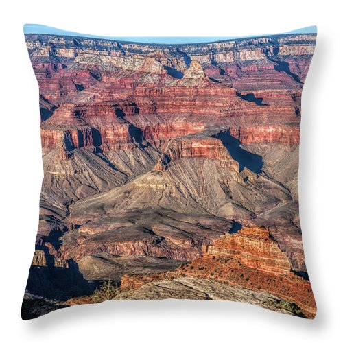 Adventure Throw Pillow featuring the photograph Canyon Terraces by John M Bailey