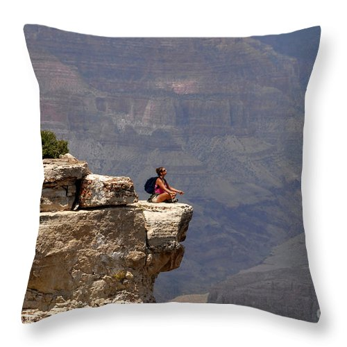 Grand Canyon National Park Arizona Throw Pillow featuring the photograph Canyon Thoughts by David Lee Thompson