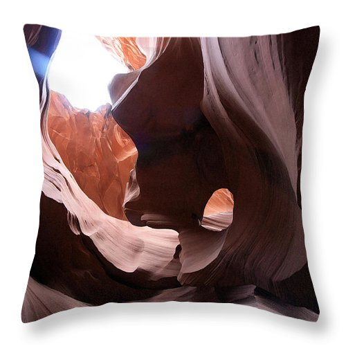 Landscape Throw Pillow featuring the photograph Canyon Waves by Mary Haber