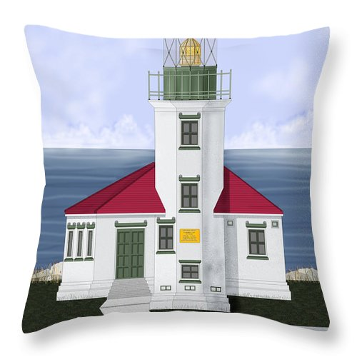 Cape Arago Throw Pillow featuring the painting Cape Arago Oregon by Anne Norskog