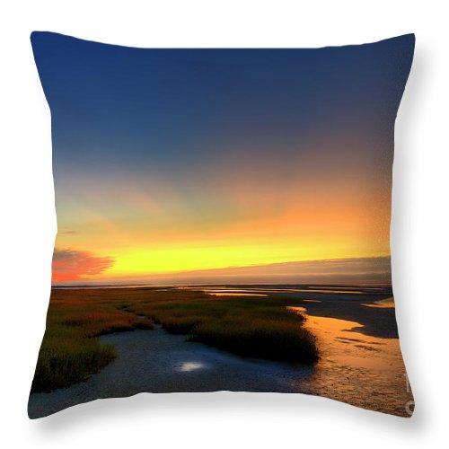 Beach Throw Pillow featuring the photograph Cape Cod Sunset by John Greim