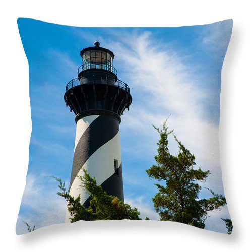 Richard Bandy Throw Pillow featuring the photograph Cape Hatteras Lantern Room by Richard Bandy